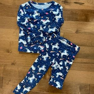 GAP toddler girls unicorn pajama set - size 3T
